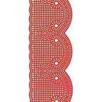 Декор кондитерський Добрик Мереживо для торта №4 червоне 10 шт./ящ.