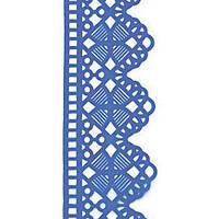 Декор кондитерський Добрик Мереживо для торта №6 синє 10 шт./ящ.