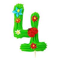 Декор кондитерський Добрик Цифри святкові зелений колір №4 36 шт./ящ. (асорті)