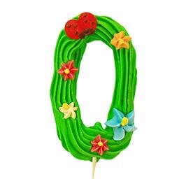 Декор кондитерський Добрик Цифри святкові зелений колір №0 36 шт./ящ. (асорті)