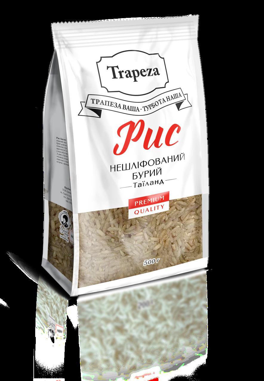 Рис Трапеза 0,5кг нешліфований бурий Таїланд