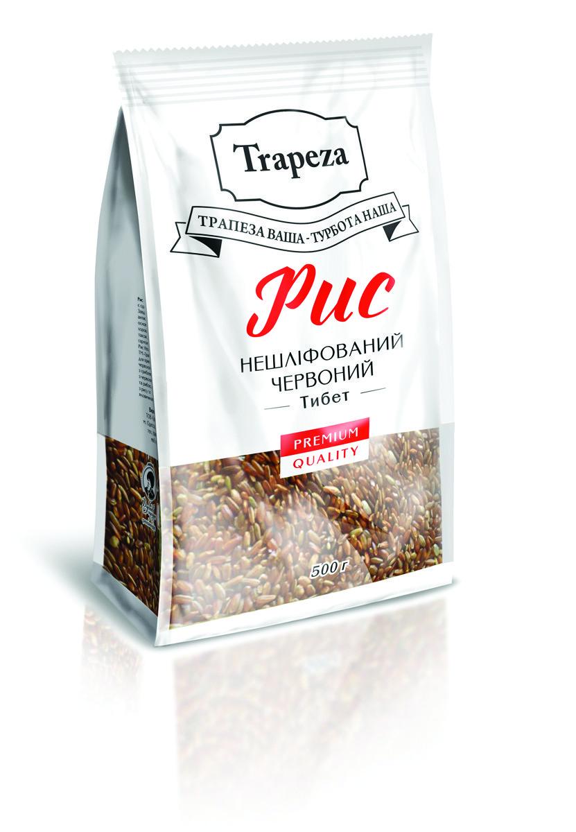 Рис Трапеза 0,5кг нешліфований червоний Тибет