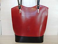 Стильная женская сумка из натуральной кожи. Италия Красный, фото 1