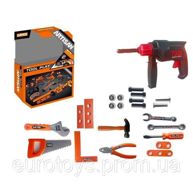 Tool Set Игрушечные инструменты - Дрель с набором инструментов, 23 шт