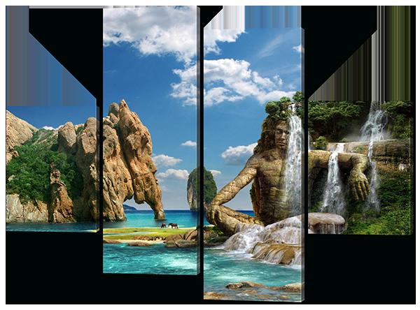 Модульная картина Островной рай