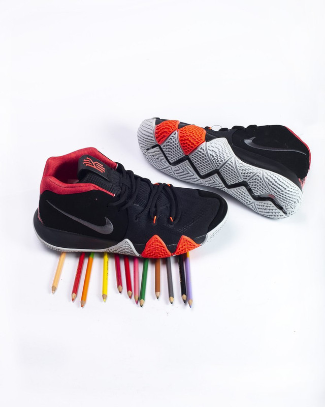 sneakers for cheap db350 15419 Кроссовки в стиле Nike Kyrie 4 Black White/Solar Red мужские ...