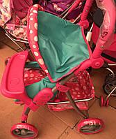 Прогулочная коляска для кукол Melogo 9337 столик для кормления, корзина для игрушек, регулируемая ручка
