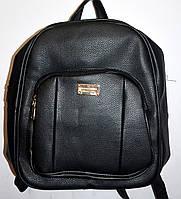 Женский городской рюкзак из искусственной кожи 26*34 см (черный), фото 1