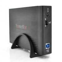 "Карман TransyStar, 3,5""алюминиевый корпус,интерфейс USB3.0 SATA, black"