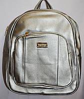 Женский городской рюкзак из искусственной кожи 26*34 см (графит), фото 1