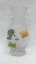 Ваза скляна На дні морському висота 25 см