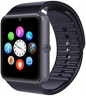 Умные часы телефон Smart Watch GSM GT08 , смарт часы с sim, SD картой Black