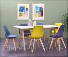 Стул Milan Eames Style, бежевое пластиковое сиденье с мягкой подушкой на буковых ножках, фото 3