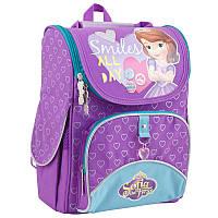 Ранец (рюкзак) - каркасный школьныйдля девочки розовый - Принцесса София, H-11 Sofia purple, 553269
