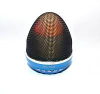 Портативная bluetooth MP3 колонка WSTER-1802 BT blue