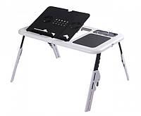 Столик для ноутбука E-Table LD09 универсальный Черно-белый