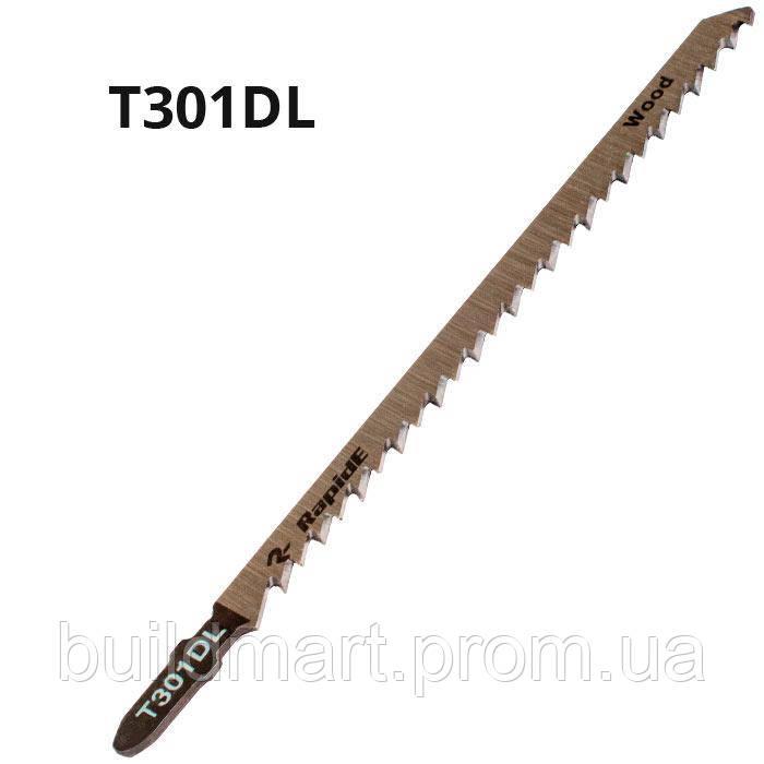 Пилка для электролобзика по дереву T301DL Rapide (5шт.)