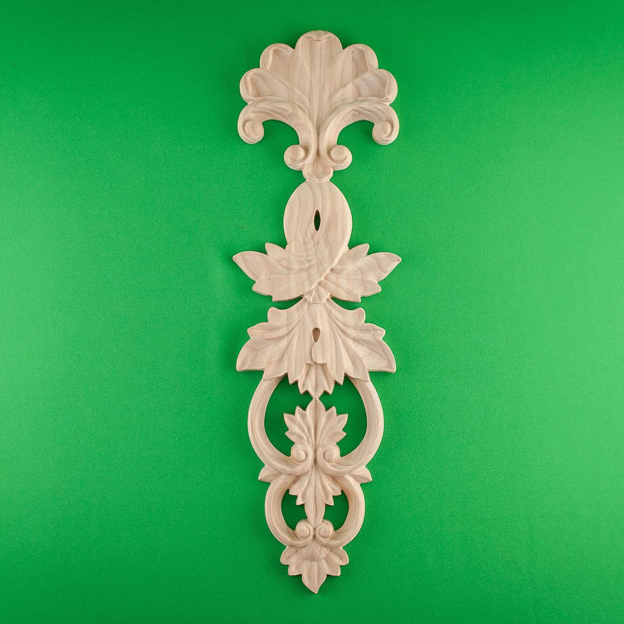 Код ДВ5. Деревянный резной декор для мебели. Декор вертикальный