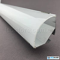 Алюминиевый профиль для светодиодной ленты угловой 30х30 мм под две LED ленты