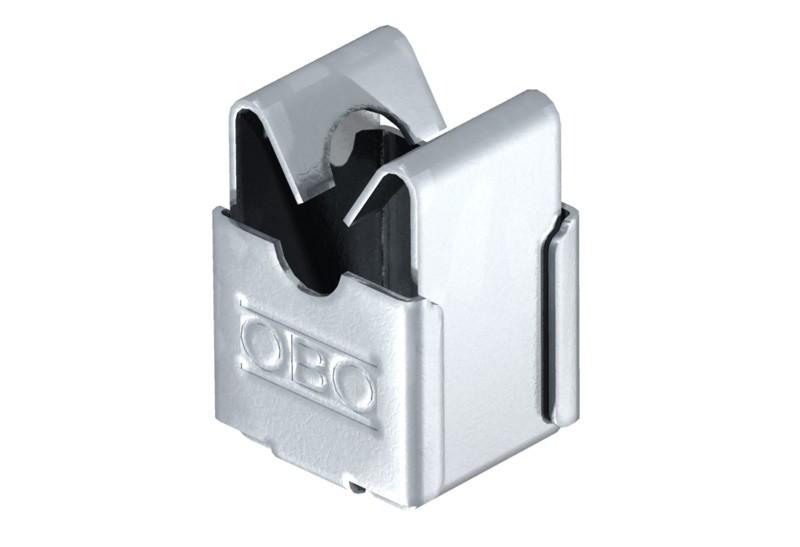 5207339 Безболтовой держатель для круглых проводников Rd 8, со сквозным отверстием Ø 5мм,177 20 VA M6 OBO
