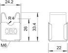 5207339 Безболтовой держатель для круглых проводников Rd 8, со сквозным отверстием Ø 5мм,177 20 VA M6 OBO , фото 3