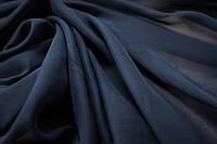 Шифон однотонный темно синий