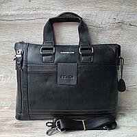 Мужской кожаный портфель сумка Fendi Фенди