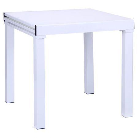 Обеденный стол Пирей База белый/Стекло белый, TM AMF