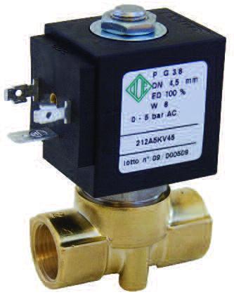 212A Клапан соленоидный / электромагнитный ODE
