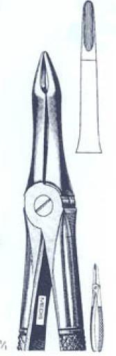 Щипцы экстракционные для корней верхних зубов(Пакистан) M-347-41 NaviStom