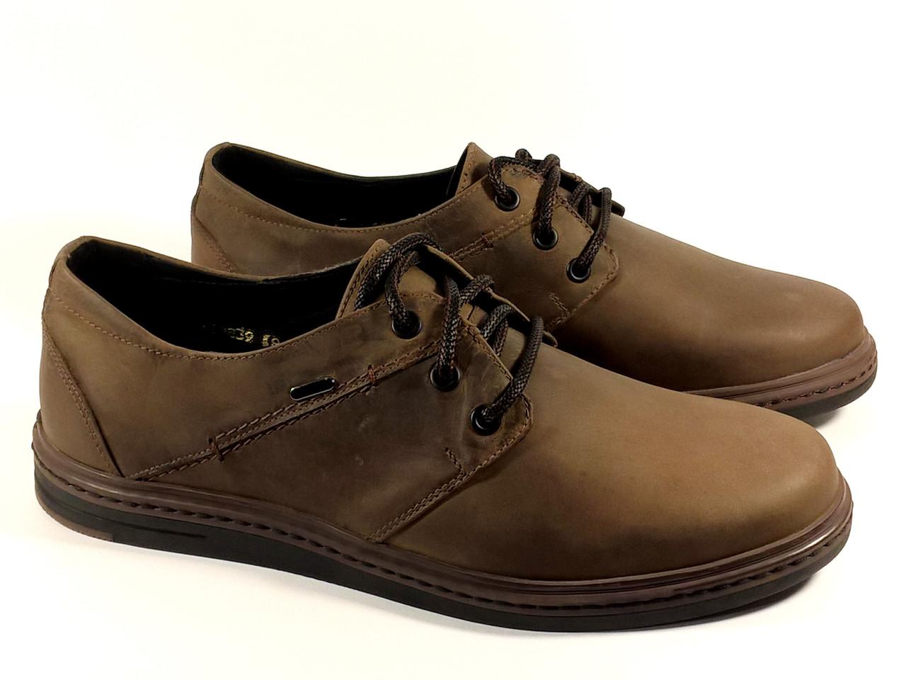 10d2a61c Мужские туфли комфорт Мида 110839 коричневые, натуральная кожа -  интернет-магазин
