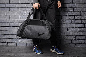Спортивная сумка Nike, темно-серая