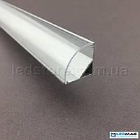 Комплект профиль + крышка (прозрачная) для светодиодной ленты угловой 16х16 мм