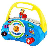 Детский интерактивный,музыкальный руль для ребенка Смейся и учись Fisher Price Фишер прайс Laugh & Learn CMW46