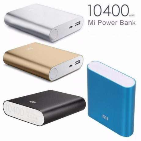 Портативный внешний Power Bank повер банк Xiaomi 10400 MI mah сяоми +Фонарик! черный аккумулятор зарядка