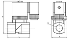 WTR223-1410-N-BS-NC-AC220V Соленоидный / Электромагнитный клапан KIPVALVE , фото 2