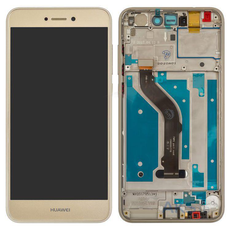 Дисплей для Huawei P8 Lite 2017 (PRA-L11/PRA-L21)/GR3 (2017) с тачскрином и рамкой золотистый Оригинал
