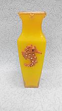 Ваза скляна, Кольорова висота 20 см