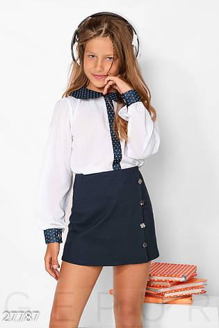 Контрастная детская блуза, фото 2