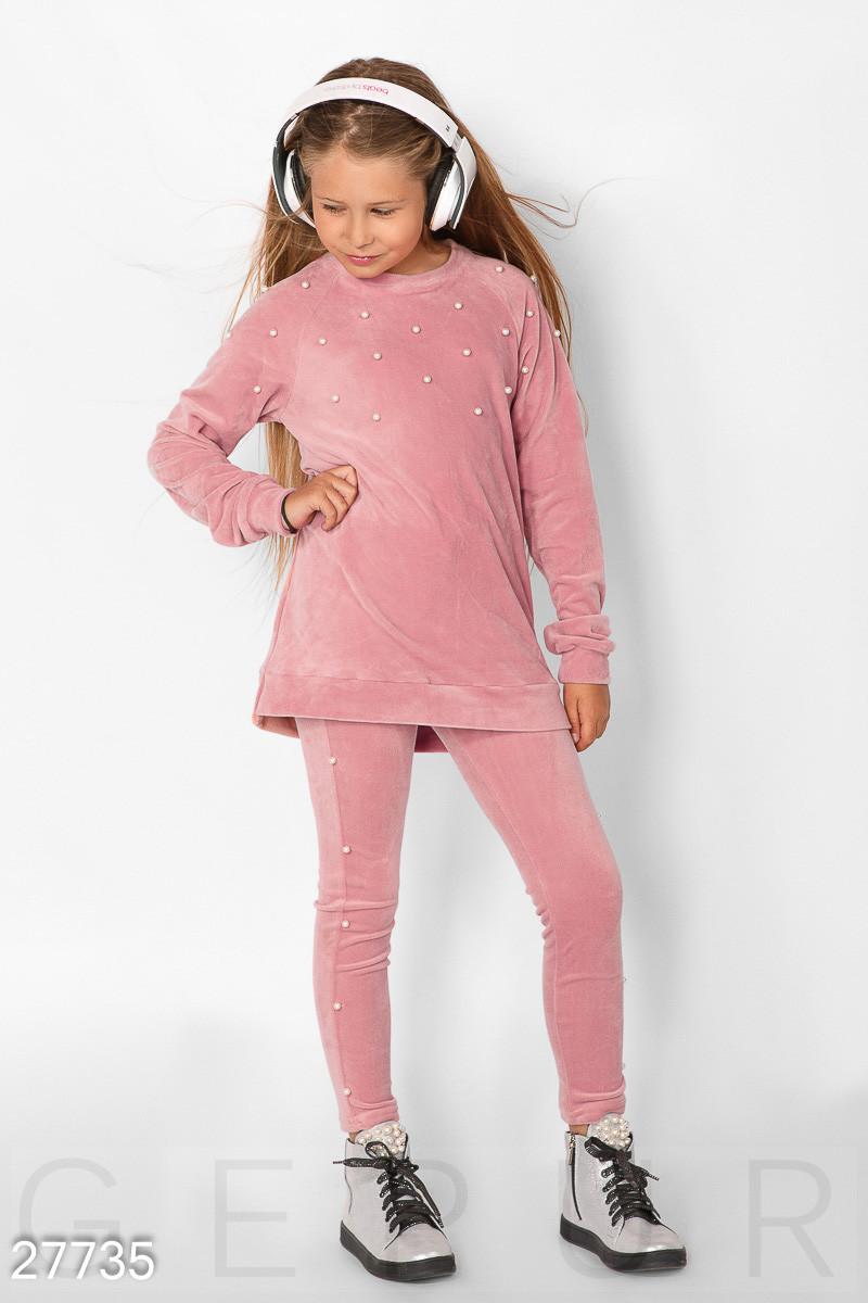 Детский костюм с бусинами