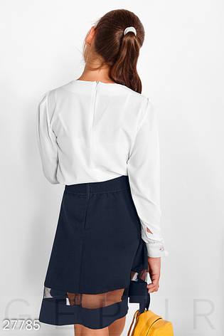 Декорированная школьная блуза, фото 2