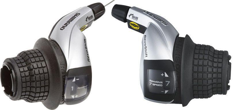 Манетки Shimano Tourney RevoShift, SL-RS45 пара 3+7 скоростей + тросики