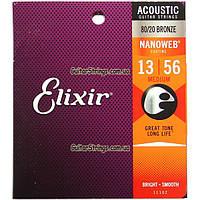Струны Elixir 11102 Nanoweb Bronze 13-56 США, фото 1
