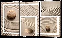 Модульная картина  Рисунок на песке