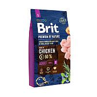 Корм для собак Brit Premium by Nature Adult S (Бріт преміум едалт дог S) 8кг.
