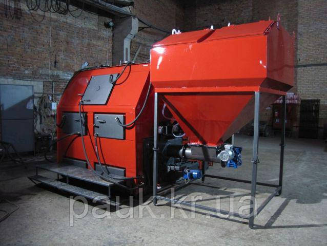 Промышленный пеллетный котел 700 кВт РЕТРА-4М, котел для пеллет с бункером