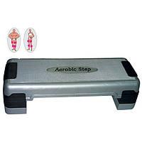 Степ-платформа ZEL FI-3592 (пластик, покрытие TPR, р-р 80L*31W*10H+5+5см