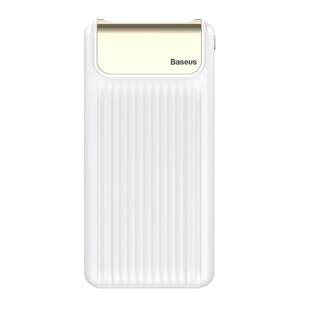 Внешний аккумулятор Power bank Baseus Quick Charge 3.0 с ЖК дисплеем 10000 mah White