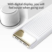 Внешний аккумулятор Power bank Baseus Quick Charge 3.0 с ЖК дисплеем 10000 mah White, фото 4
