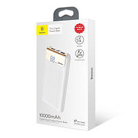 Внешний аккумулятор Power bank Baseus Quick Charge 3.0 с ЖК дисплеем 10000 mah White, фото 5